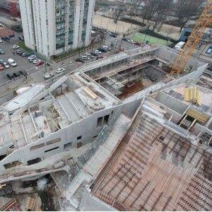 Le chantier du nouveau Conservatoire d'Aubervilliers