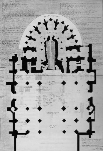 Plan de la Basilique Saint-Denis en 1806