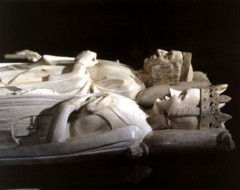 The Funerary Monument Of Charles V And Jeanne De Bourbon
