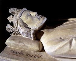 Stone tomb of Charles Martel