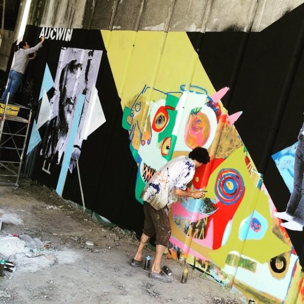 aucwin, parcours street art avec le 6b
