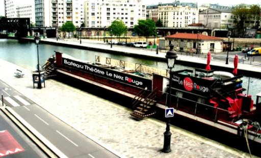 Theater boat Paris Bassin de la Villette - Le Nez Rouge