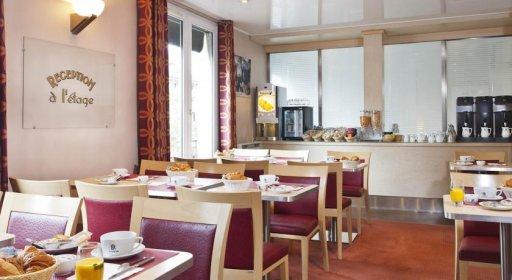 Hôtel du Lion, salle petit déjeuner buffet