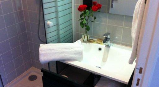 Hôtel Clairefontaine Montparnasse salle de bains