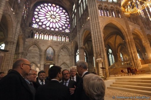 Fran�ois Hollande � la Basilique de Saint-Denis (4)