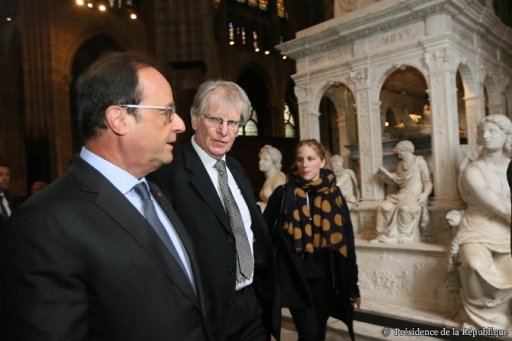 François Hollande à la Basilique de Saint-Denis (5)