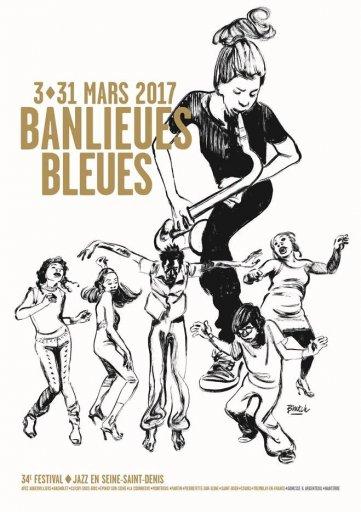 Festival Banlieues Bleues 2017 - affiche