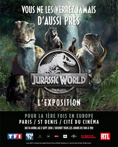 Affiche exposition Jurassic World
