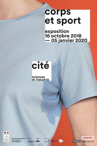affiche exposition Corps et Sports - cité sciences 2018