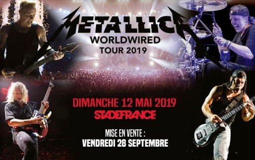 Affiche du concert de Metallica au Stade de France