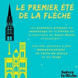 Visites du chantier de la flèche de la basilique St-Denis