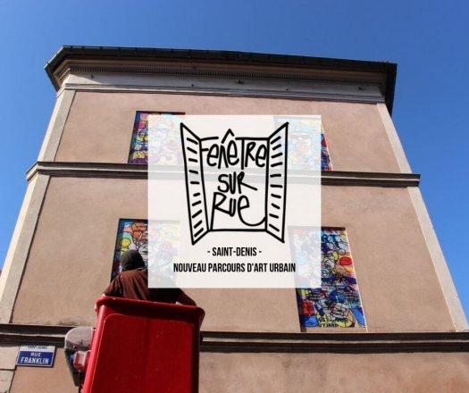 fenêtre sur rue street art à Saint-Denis