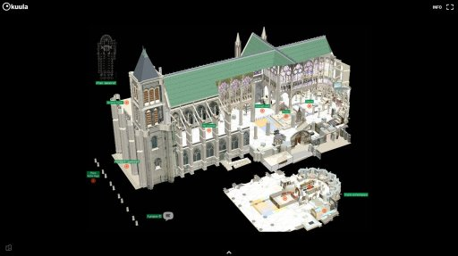 Plan 3d visite 360° Basilique Saint-Denis