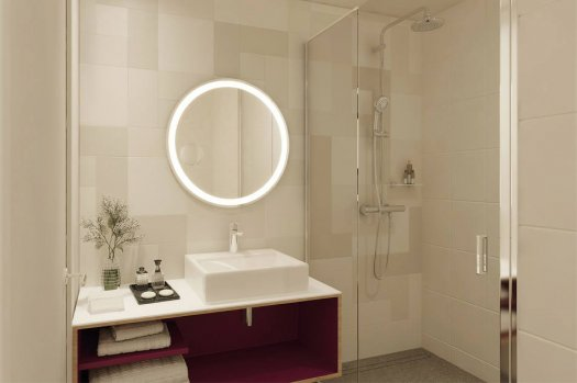 Hyatt House CDG aéroport - salle de bain - appartement, studio