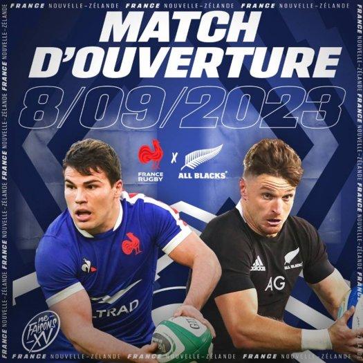 Affiche match ouverture coupe du monde rugby 2023