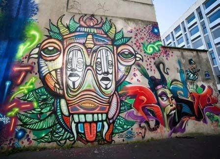 Ourcq living color festival street art paris 19 ourcq la villette - Expo street art paris ...