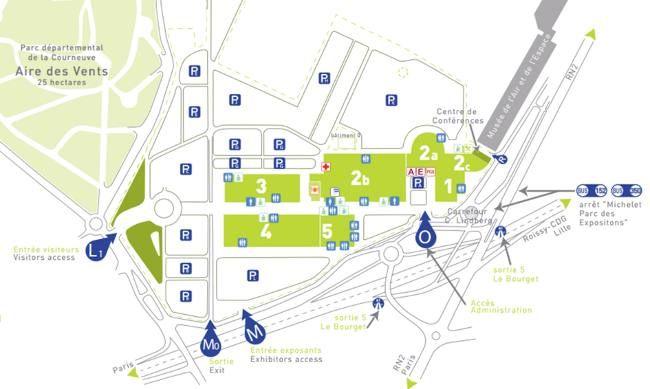 Parc des expositions du bourget parc d 39 expositions de - Tarif parking salon de l agriculture ...