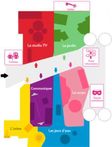 plan of the playground from 5 to 12 years at La Villette Paris