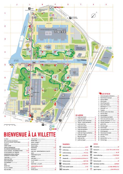 map Parc de la Villette - Paris