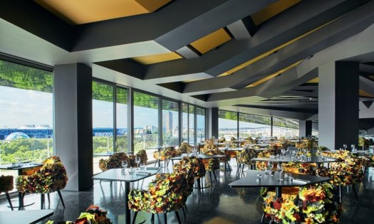 le balcon le restaurant panoramique de la philharmonie de paris. Black Bedroom Furniture Sets. Home Design Ideas