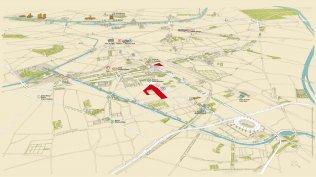 Plan des sites du Campus Condorcet à Paris Porte de la Chapelle, et Aubervilliers © Luc Guinguet, LM Communiquer, Campus Condorcet