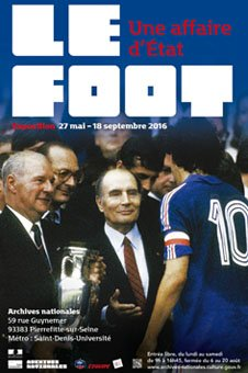 Affiche exposition Le foot aux archives nationales