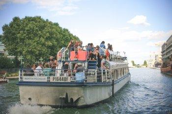 Croisière musicale sur le canal de l'Ourcq au départ du bassin de la Villette