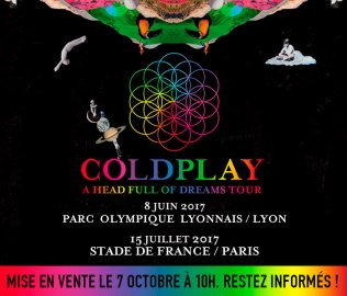Affiche tournée Coldplay 2017