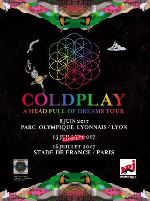 affiche Coldplay stade de France 2017