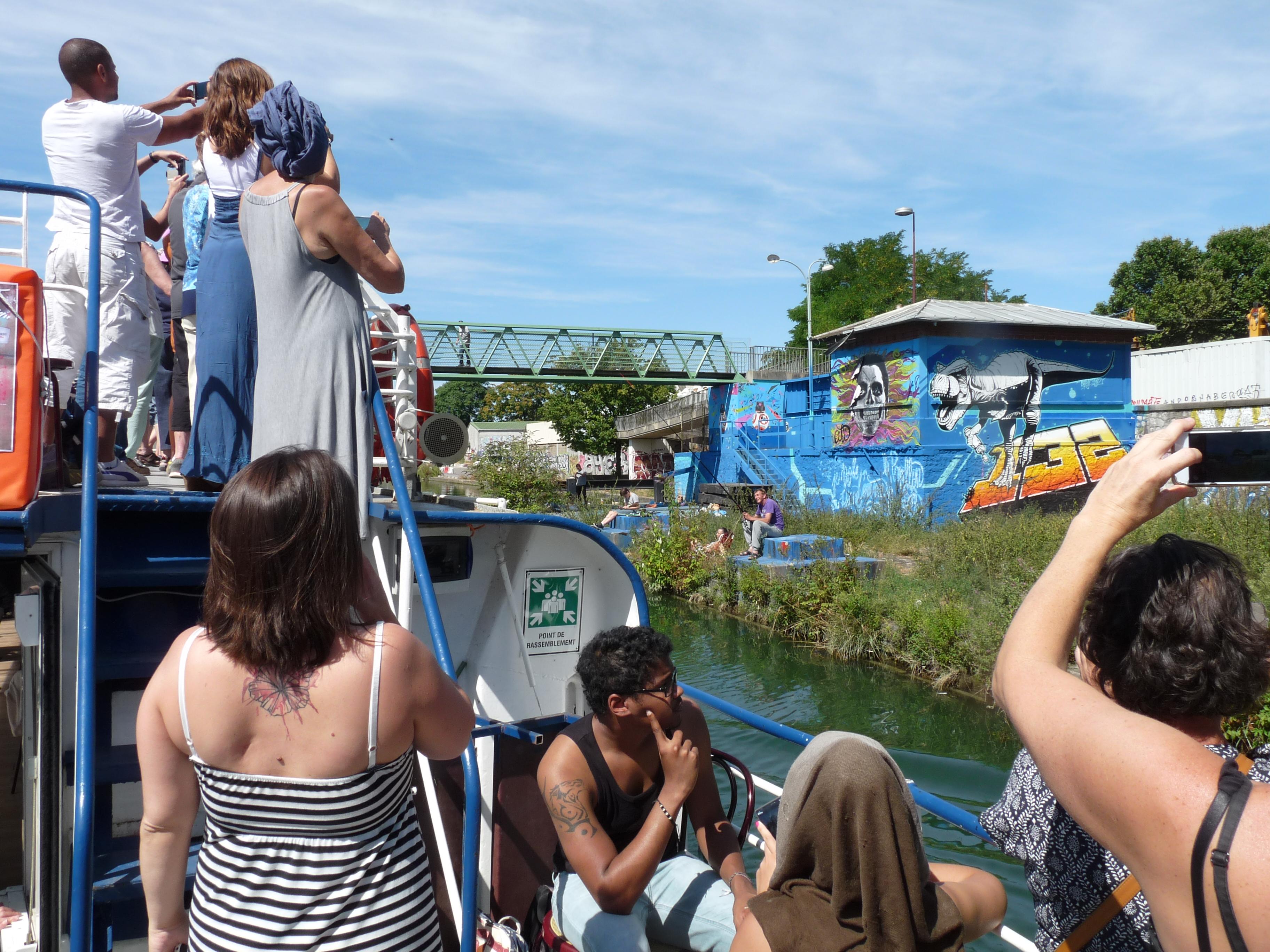 Eté du canal 2016 Croisière street art avenue canal Saint-Denis
