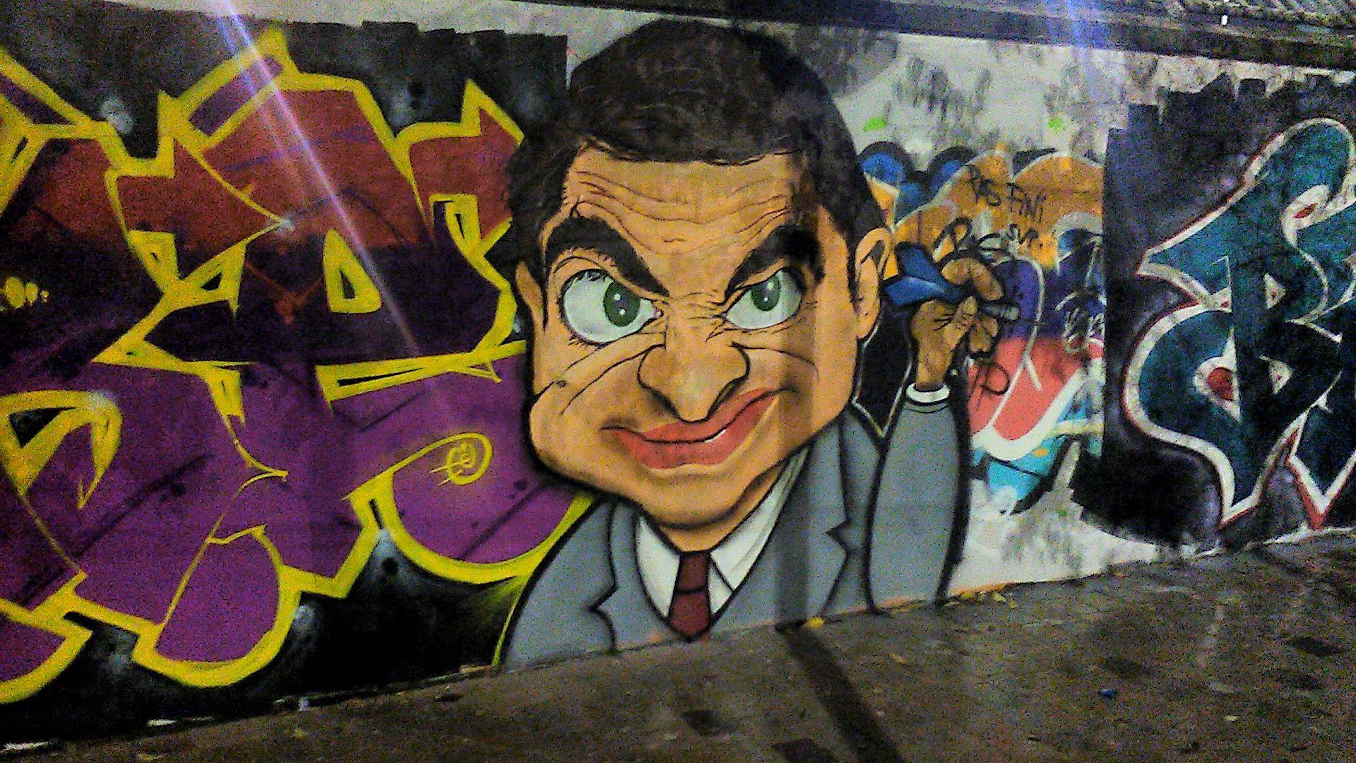 Graff Mister Bean à Pantin