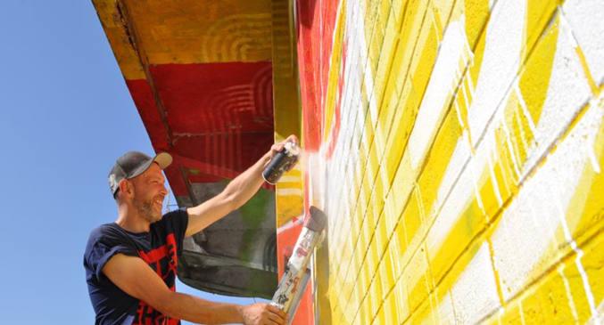 Artof popof graff le batiment des douanes - street art Pantin