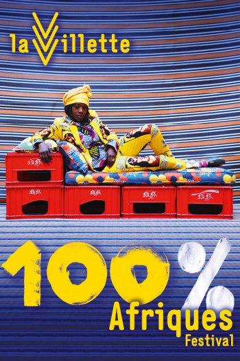 Affiche 100% Afriques La Villette