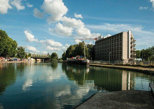 Le 6b vu du canal Saint-Denis © CyberCeb