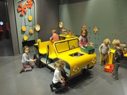 Children playing at the Cité des Enfants