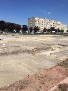 Excavation work in Bobigny