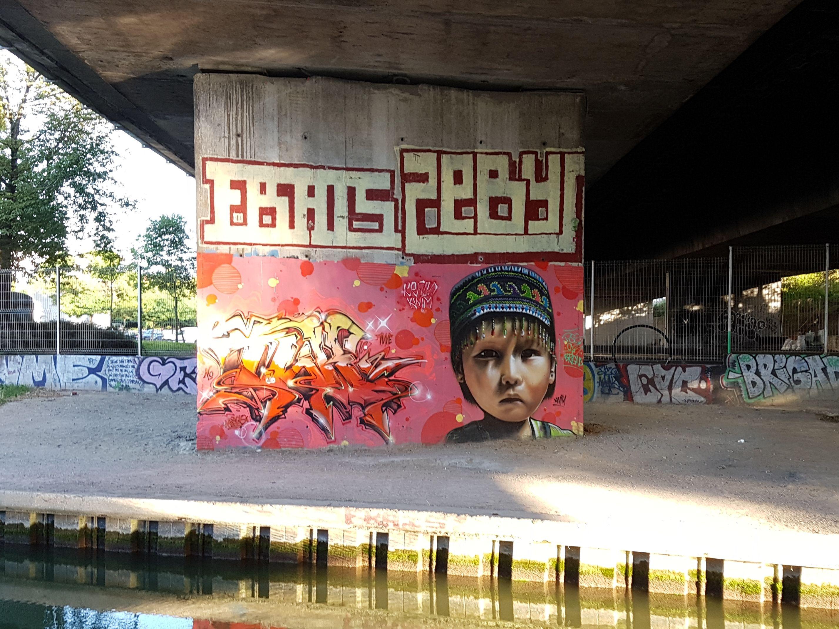 Street art sur les murs de Noisy-le-Sec - Bondy