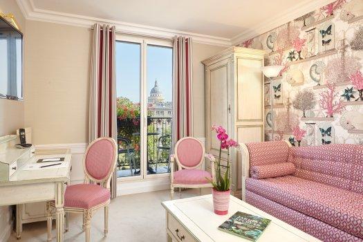 Une chambre de l'hôtel Saint Jacques Paris