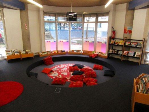 Espace jeunesse de la bibliothèque Elsa Triolet de Bobigny