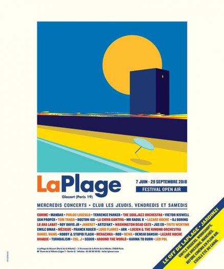 LaPlage été 2018 - Glazart - affiche