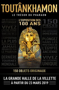 Toutankhamon exposition Paris La Villette