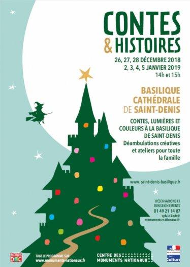 Contes et histoires - noël Basilique saint-denis 2018