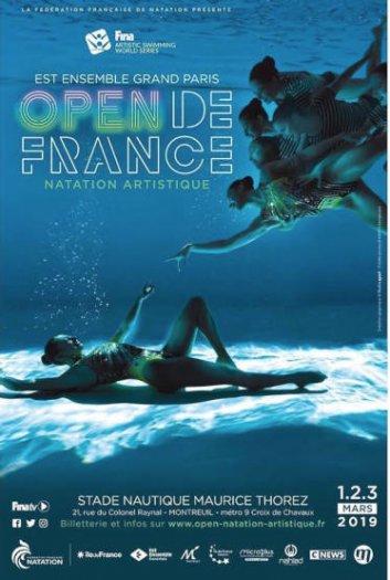 Open de france - natation à Montreuil - mars 2019