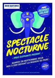 Spectacle nocturne gratuit Trois éléphants passent