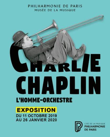 affiche expo Chaplin Philharmonie