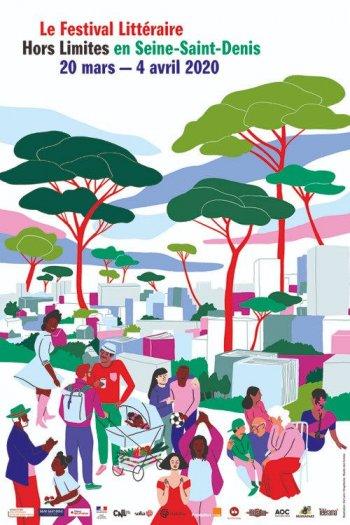 Festival Hors Limites - affiche 2020 par illustratrice Kei Lam