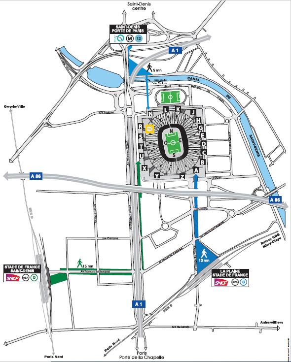 Stade de France map