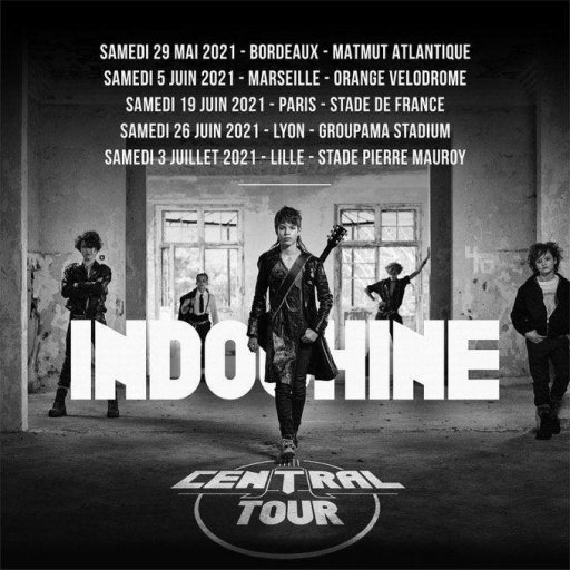 Indochine en concert au Stade de France - 2021