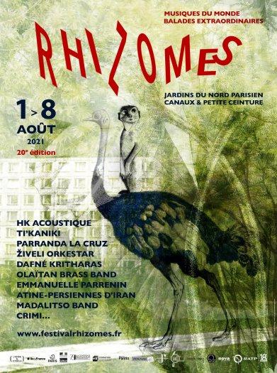 Affiche Festival Rhizome 2021 par Camille Sauvage