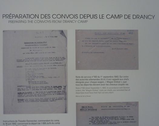 partie expo lettres de déportation - Mémorial de la Shoah de Drancy